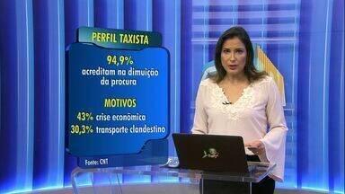 Taxistas dizem em pesquisa que houve redução na procura pelo serviço em 2015 - Autonomia é citada como ponto positivo da profissão por 62% dos pesquisados.