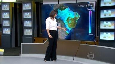 Rio Grande do Sul pode ter mais temporais neste sábado (30) - As nuvens mais carregadas estão no noroeste do estado, no oeste do Paraná e perto do sul de Mato Grosso do Sul.
