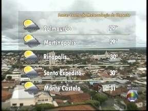 Confira a previsão do tempo para este sábado - Saiba como ficam as temperaturas no Oeste Paulista.