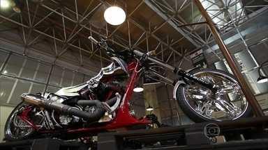 Salão de moto tem lançamentos e customizadas - Salão de moto tem lançamentos e customizadas.