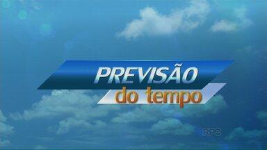 Domingo deve ser parcialmente nublado em Maringá - Na segunda, o tempo continua instável em Campo Mourão