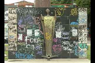 Parte de monumento some na praça Floriano Peixoto, em Belém - A praça faz parte do Complexo Arquitetônico do Mercado de São Brás.Prefeitura de Belém afirma que já está investigando o caso.
