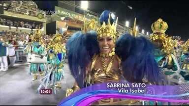 Reveja as rainhas de bateria e celebridades que passaram pela Marquês de Sapucaí - Muitos famosos desfilaram na segunda noite do Carnaval carioca