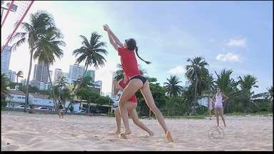 João Pessoa recebe desafio internacional de Vôlei na praia do Jacaré - Muitos atletas do vôlei vem de todas as partes da Europa visitar a Paraíba para treinarem nas condições ideais para a prática do esporte.