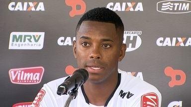 Pedalada, Ronaldinho Gaúcho e estreia no Galo: Robinho fala que tem provar a cada dia - Pedalada, Ronaldinho Gaúcho e estreia no Galo: Robinho fala que tem provar a cada dia