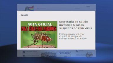 Prefeitura de Perdões (MG) investiga cinco casos suspeitos de Vírus da Zika da cidade - Prefeitura de Perdões (MG) investiga cinco casos suspeitos de Vírus da Zika da cidade