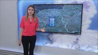 Veja como fica a previsão do tempo neste sábado (13) em Ribeirão Preto - Em Monte Alto, SP, a temperatura mínima esperada é de 19 graus e a máxima de 37 graus.