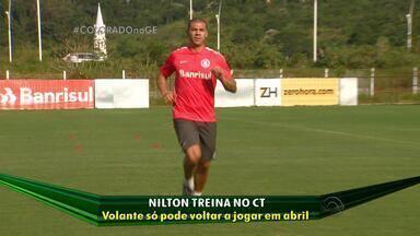 Nilton volta a treinar no CT Parque Gigante - Assista ao vídeo.