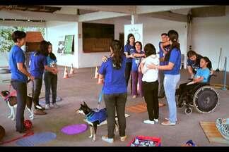 Projeto utiliza animais no tratamento de pessoas com deficiência em Belém - Grupo da Universidade Rural da Amazônia usa da interação entre animais e pacientes para auxiliar na reabilitação.