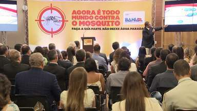 Governador participa de encontro com empresas e pede apoio contra o Aedes Aegypti - A ideia é incentivar que mutirões sejam feitos nas empresas. Dengue, zika, chikungunya, síndrome de 'Guillain-Barré' e microcefalia. Todas as doenças têm relação direta ou indireta com o mosquito Aedes Aegypti.