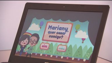 Jovem faz pedido de casamento através de videogame especial - O rapaz, de Cubatão, trabalha com a criação de jogos de video game.