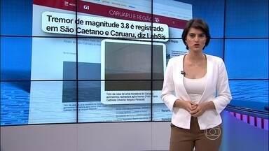 Tremor de magnitude 3.8 na escala richter é registrado em São Caetano e Caruaru - Internautas relatam tremores também na Região Metropolitana do Recife.