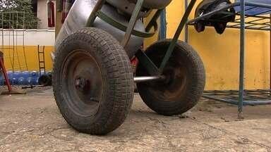 Ladrões roubam depósitos de gás em Goiânia - Somente no final de semana foram dois assaltos.