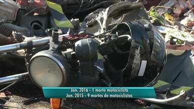 Cai o número de mortes de moticiclistas em Londrina - Os dados são de janeiro deste ano, comparados com o mesmo período do ano passado.