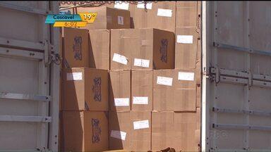 Polícia faz três apreensões de cigarro na região de Cascavel - Os produtos estavam em carretas