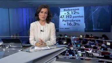 Bolsa de Valores de São Paulo sobe mais de 5% - O dólar foi vendido no menos preço em quase três meses: R$ 3,80.