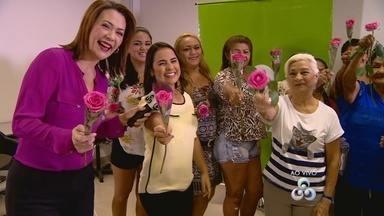 Telespectadoras recebem homenagem da Rede Amazônica, em Manaus - Mulheres foram convidadas para terem um dia de beleza na sede da emissora.