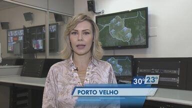 Confira a previsão do tempo desta terça-feira (8) para Rondônia. - Informações são do Sipam.