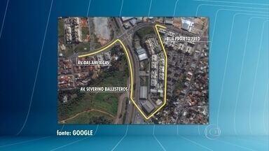 Construção de viaduto muda trânsito em Contagem, na Grande BH - Estrutura será construída no entroncamento das avenidas das Américas e Severino Ballesteros.