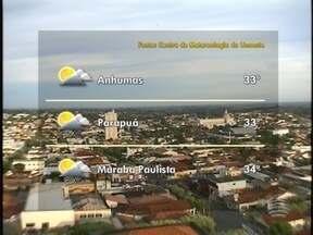 Confira a previsão do tempo para o Oeste Paulista nesta quarta-feira - Veja como ficam as temperaturas em algumas cidades da região.