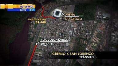 Porto Alegre tem esquema de trânsito para show e partida de futebol - Assista ao vídeo.