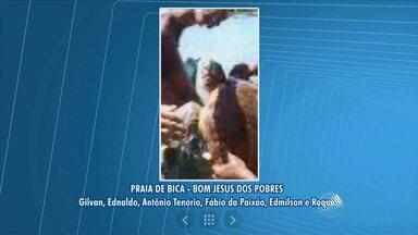 Tartaruga presa numa rede de pesca é encontrada por moradores de Bom Jesus dos Pobres - Os moradores salvaram a tartaruga que não conseguia subir à superfície para respirar.