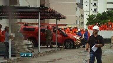 Dois operários morrem após acidente em obra em Fortaleza - Construtora informou que vai investigar os motivos do acidente.