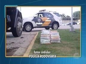 Polícia apreende mais de 78 quilos de cocaína em Presidente Epitácio - Droga estava escondida em um caminhão.