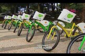 Projeto 'Bike Udi' é lançado em Uberlândia - Projeto contará com quatro estações de compartilhamento de bicicletas, estas que serão disponibilizadas a partir do próximo domingo (3).