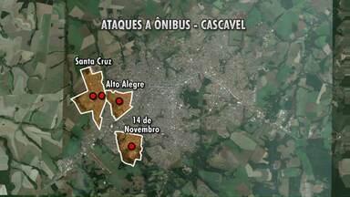 Mapa mostra locais onde aconteceram os atentados em Cascavel - Cinco ataques foram registrados em menos de um dia nas regiões oeste e sul da cidade.