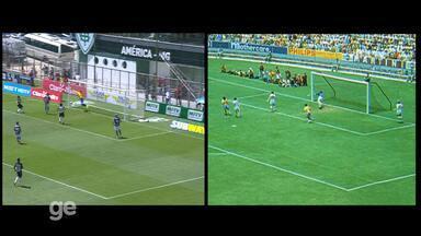 Compare a defesa de Fábio na cabeçada de Robinho com a de Gordon Banks, na Copa da 1970 - Compare a defesa de Fábio na cabeçada de Robinho com a de Gordon Banks, na Copa da 1970