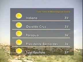 Fim de semana prossegue ensolarado no Oeste Paulista - Confira como fica a previsão da meteorologia na região de Presidente Prudente.