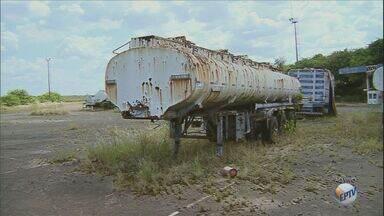 Terminal de cargas está abandonado em Paulínia - O local esta completamento aberto e qualquer pessoa pode entrar.