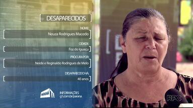Famílias procuram parentes desaparecidos - São pessoas de Foz e do sudoeste