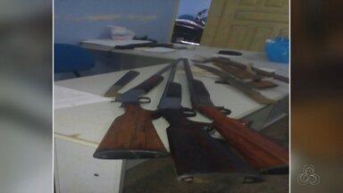 Suspeitos de crimes em área indígena são presos no AM - Quatro foram presos.
