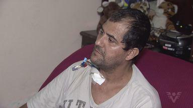 Morador de Praia Grande, SP, consegue tratamento a quase 200km de sua casa - O morador de Praia Grande, Paulo César, precisa fazer hemodiálise pelo menos três vezes por semana.