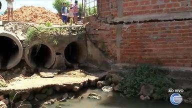 Galeria pode causar desabamento de casas em comunidade de Teresina - Galeria pode causar desabamento de casas em comunidade de Teresina