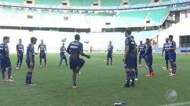 Bahia e o Fluminense de Feira disputam vaga na final do baianão - O repórter Sérgio Pinheiro traz mais detalhes sobre a partida que acontece nesta quarta-feira (20) na Arena Fonte Nova.