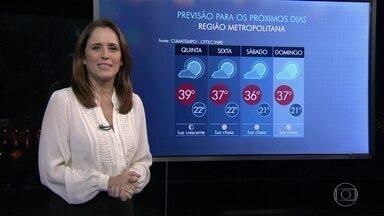 Feriado será de tempo quente no Rio - Todo o feriado será de muito sol e calor no Rio de Janeiro. Nesta quinta-feira (21), a temperatura deve chegar a 39ºC.