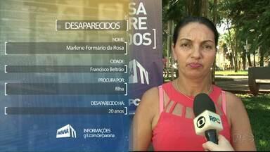 Famílias procuram parentes desaparecidos - Se você tem alguma informação, entre em contato com o ParanáTV