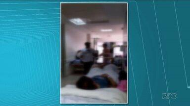 Pacientes reclamam de superlotação no Hospital da Zona Norte - Um paciente fez um vídeo de pacientes sendo atendidos nos corredores. Ele está há dez dias internado.