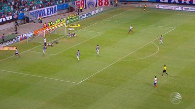 Bahia vence o Fluminense de Feira e garante vaga na final do Baianão - Time conseguiu superar o clima de desconfiança na Arena Fonte Nova, após a eliminação da Copa do Nordeste.