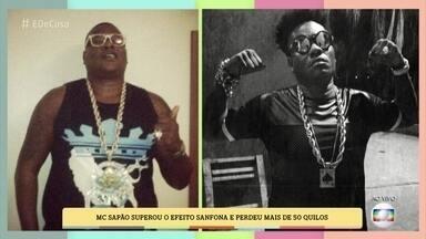 MC Sapão conta como perdeu mais de 50 quilos - Cantor conseguiu superar o efeito sanfona