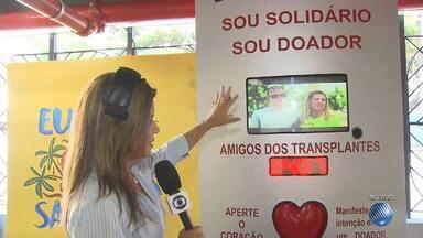 Estação da Lapa recebe campanha de conscientização sobre a importância da doação de órgãos - Na Bahia, mais de 1200 pessoas esperam por um transplante de córnea e outras 930 aguardam por um rim.