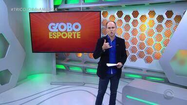 Confira a íntegra do Globo Esporte RS desta quarta (27) - Programa destaca jogo do Grêmio contra o Rosário Central da Argentina, hoje (27), na Arena. Tem também a preparação de Inter e Juventude para a final do Gauchão e uma homenagem aos atletas gaúchos que vão disputar os Jogos Olímpicos Rio 2016.