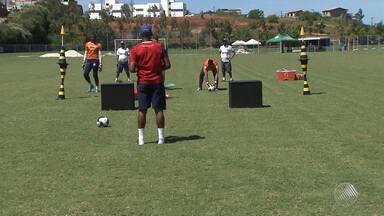 Bahia treina antes do clássico Ba-Vi - Partida acontece no primeiro domingo de maio, no Barradão.