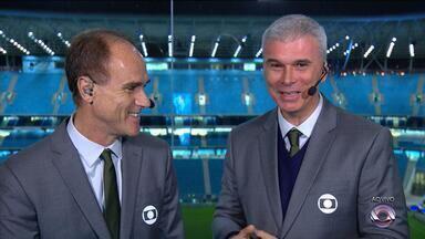 Grêmio recebe o Rosario pela Libertadores nesta noite (27) - O jogo tem transmissão ao vivo da RBS TV, a partir das 21h45.
