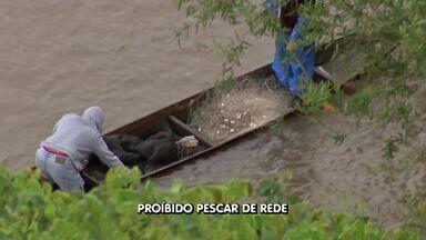 Crime ambiental: pescadores são flagrados usando redes no Rio Cuiabá - Crime ambiental: pescadores são flagrados usando redes no Rio Cuiabá