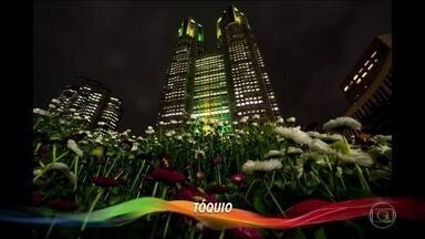 Diversas cidades do mundo se iluminam com as cores do Brasil a 100 dias das Olimpíadas - Diversas cidades do mundo se iluminam com as cores do Brasil a 100 dias das Olimpíadas.