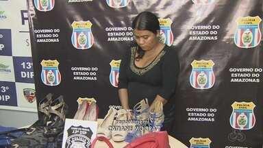 Suspeita de cometer estelionato e enganar vendedores é presa no AM - Kézia da Silva, de 30 anos, foi presa nesta quarta (27), após denúncia.